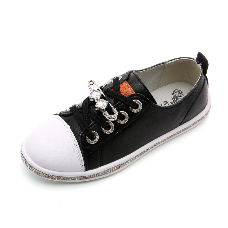 2017 Spring Autumn New  Fashion Children Shoes Boys Girls Pin Flat Bottom Leisure Sport  Footwear Lace Loop Brand High-Quality