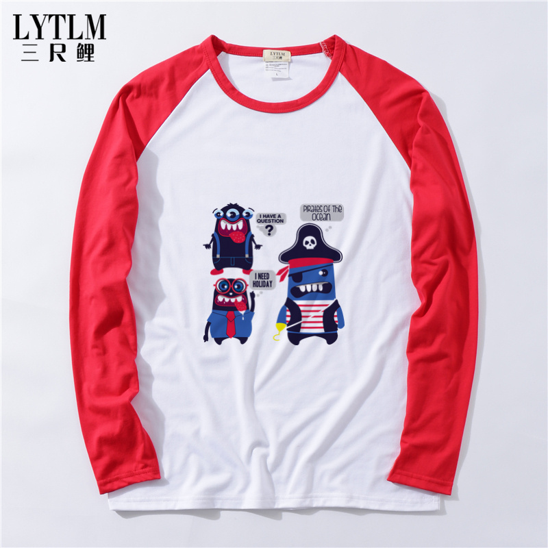 LYTLM White Kids Pirate Shirt Spring Autumn Tops Children's Clothes for Boys Cotton Clothing Baby Boys Girls Long Sleeve T-shirt