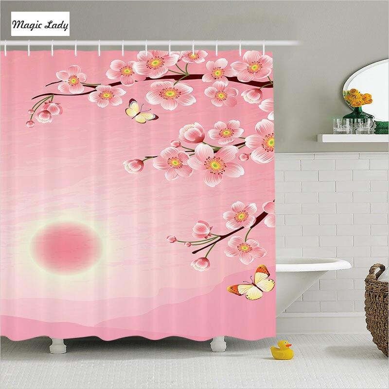 Cherry Blossom Shower Curtain Bathroom