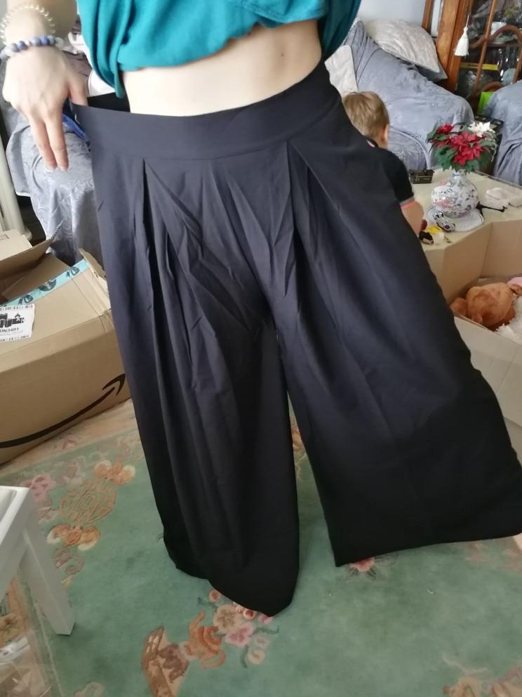 Summer Women Wide Leg Pant Casual Loose Trousers Ladies Boho Beach High Elastic Waist Pants Pantalon Femme Streetwear photo review