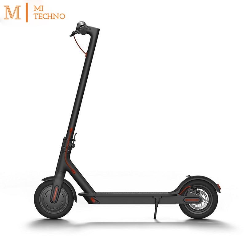 Origine Xiao mi mi trottinette électrique M365 Électrique smart 25 km/h 100 kg distance 30 km blanc et noir couleur.