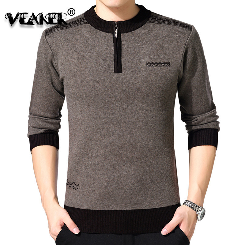 Mens Sweaters Pullover Knitted Cashmere Autumn Male Winter Plus-Size O-Neck Thick