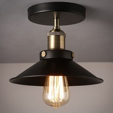 Vintage americano variedad de estilos de luces de techo Metal negro pasillo luces AC 110-260V E27/E26 lámpara titular lámparas de techo
