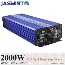 цена на 2000W 48VDC Off Grid Solar Inverter or Wind Inverter, Surge Power 4000W Pure Sine Wave Inverter for 110V/220VAC Home Appliances