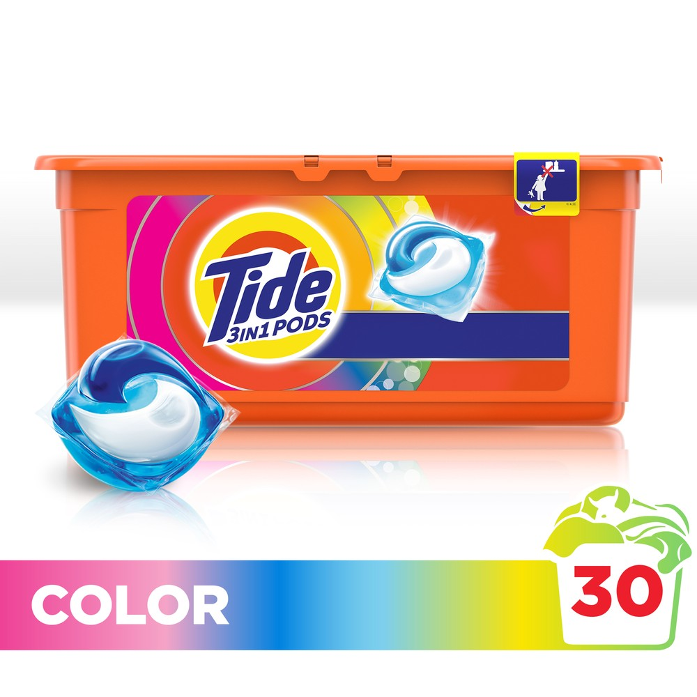 Washing Powder Capsules Tide Color Pods (30 Tablets) Laundry Powder For Washing Machine Laundry Detergent indoor retractable laundry clothesline 2 5m length