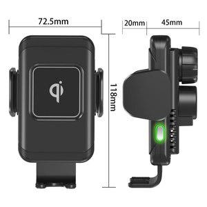 Image 4 - 15W הידוק אוטומטי אלחוטי מטען לרכב עבור iPhone עבור Samsung מהיר אלחוטי מטען לרכב עם טלפון מחזיק טעינה מהירה