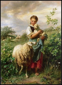 Image 1 - The Shepherdess   Counted Cross Stitch Kits   DIY Handmade Needlework for Embroidery 14 ct Cross Stitch Sets DMC Color