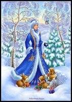 Embroidery Counted Cross Stitch Kits Needlework Crafts 14 ct DMC DIY Arts Handmade Decor Snow Princess 2