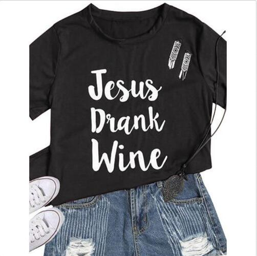d480e754 Detail Feedback Questions about Funny Letter Printed Tee Jesus Drank Wine  Tumblr Christian T Shirt Girl Cotton 90s Jesus Graphic Trendy Popular Tops  Black ...