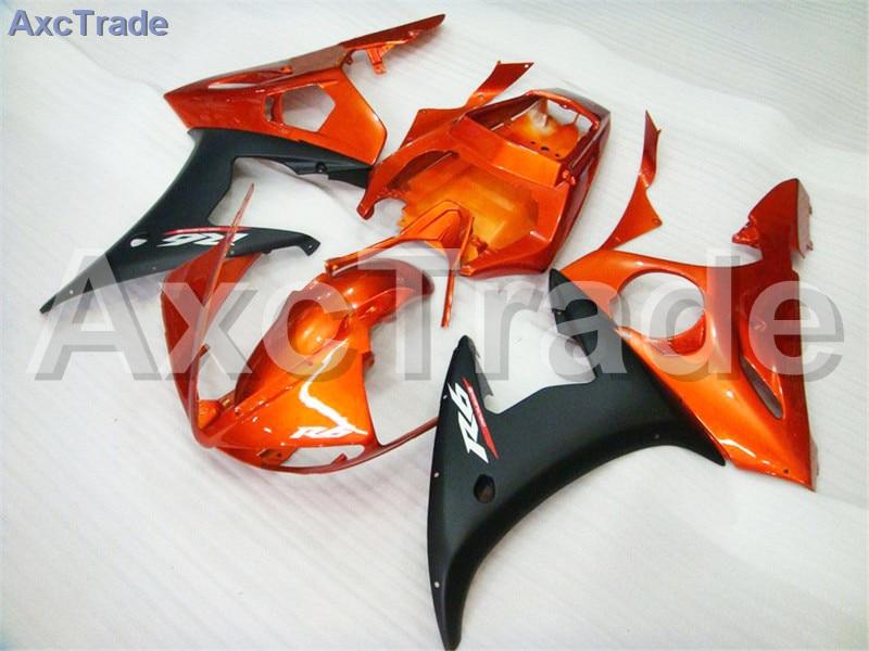 Motorcycle Fairings Kits For Yamaha YZF600 YZF 600 R6 YZF-R6 2003 2004 03 04 ABS Injection Fairing Bodywork Kit Orange Black