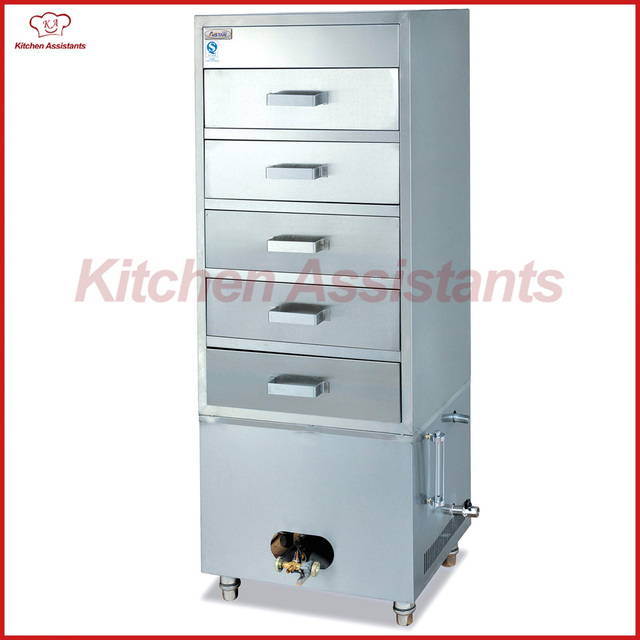 GH5J Gas Stainless Steel Steam Cabinet For Food With 5 Layers