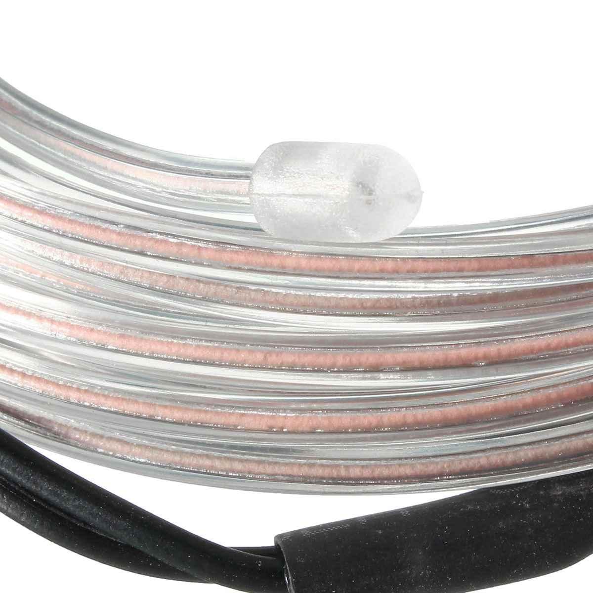 Smuxi 2 м Гибкий EL провод неоновый свет Декорации для вечеринки неоновый светодиодный светильник EL провод веревка трубка водонепроницаемая светодиодная лента