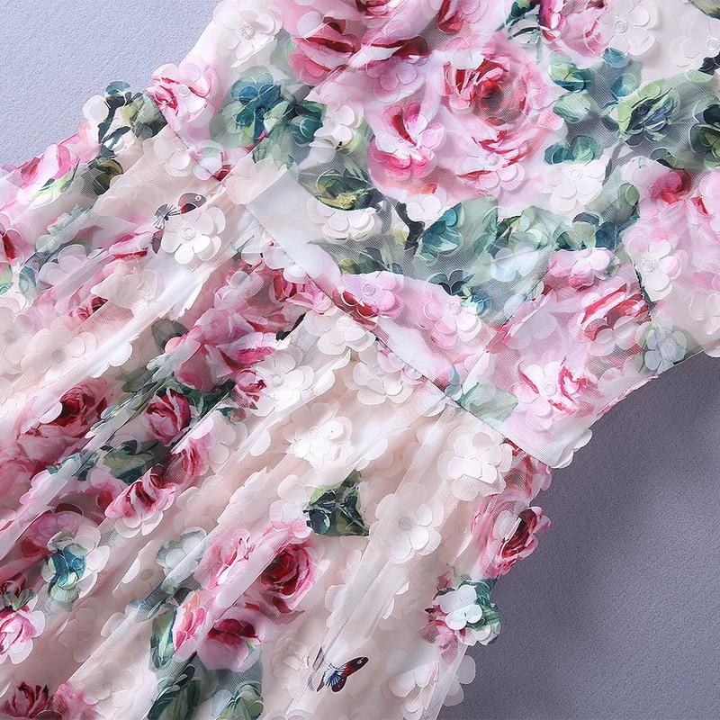 Sans Robe Roses Luxueux Longue 2018 Solide Verano Bohème Fleurs Robes Shown Manche Rose Mesh Magnifique Abricot As Sheer Imprimer wwYStqp