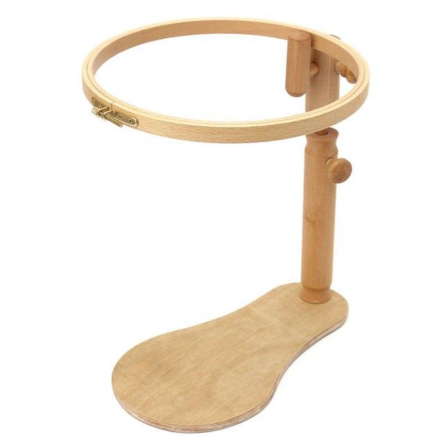 Práctico ajustable sentarse en madera de haya ronda Bordado Marcos ...