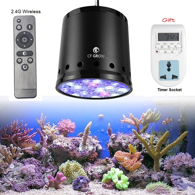 CF Grow LED Aquarium Lighting Dimmable 100W 150W Saltwater Marine 2.4G SPS Reef Seaweed LED Coral Grow Light Lamp Sea Fish Tank 1pcs 100w aquarium light for coral diy 100w multichips led aquarium led chip best for marine fish tank for coral reef growing