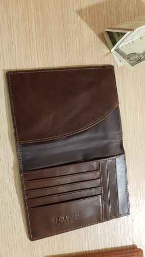 KAVIS Genuine Leather Passport Cover ID Business Card Holder Travel Credit Wallet for Men Purse Case Driving License Bag Thin photo review