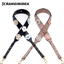Cow Leather You Floral Shoulder Strap for Bags Women Handbag Crossbody Bag Straps Replacement Belt Woman