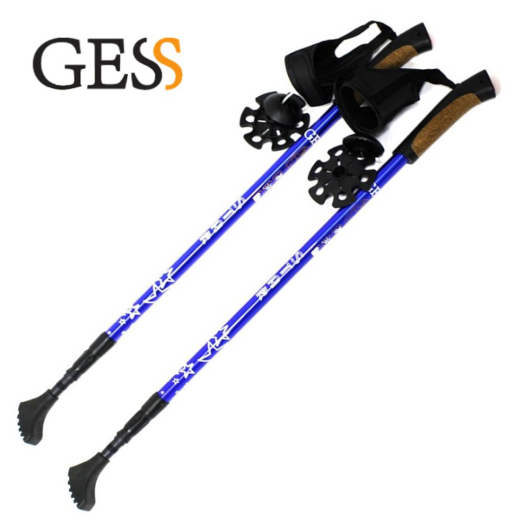 Sticks for Nordic walk Star Walker Stick walking Health Products point break 2pieces pioneer the 4 line of the north pole star 7075 aluminum alloy mountaineering stick walking stick