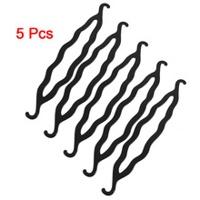 MYTL 5 Pcs Black Plastic Magic Bun Maker Curler Hair Holders 8.5