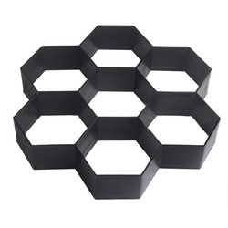 Plastic DIY Path Maker Mold Hexagon Manually Paving Cement Brick Molds for Garden Decor (Black)