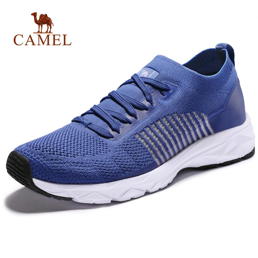 CAMEL Large Size Men Women Breathable Running Shoes Summer Thin Ligth Casual Soft Outdoor Sports Walking