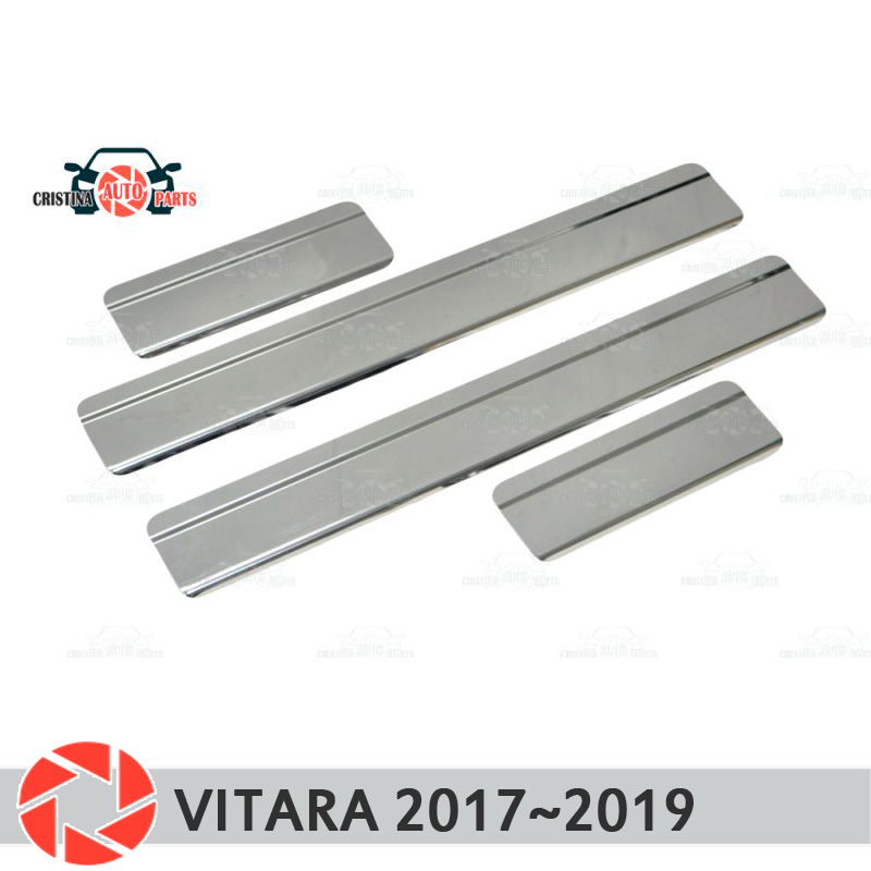 цена на Door sills for Suzuki Vitara 2017~2019 step plate inner trim accessories protection scuff car styling decoration