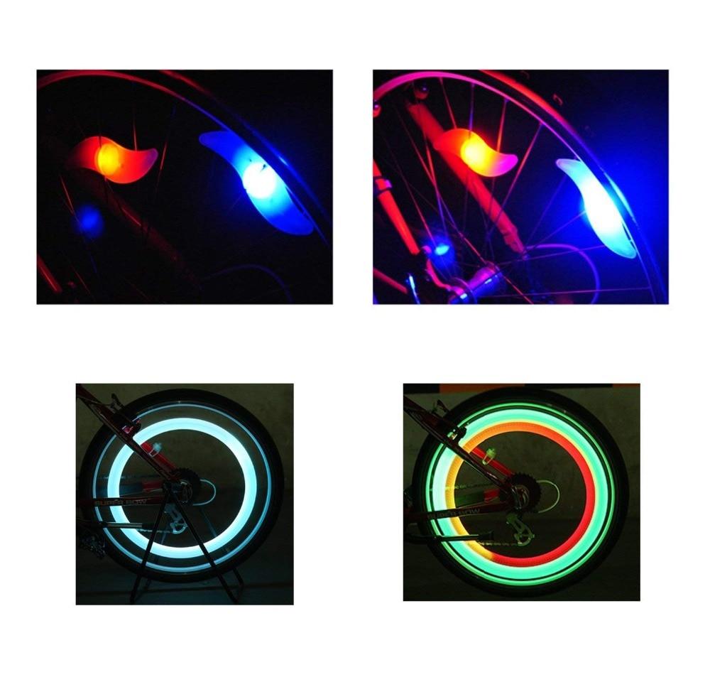 Bike Spoke Light 6PCS Multicolour  Bike Wheel Light,Tyre Wire Right With  Flash Model Neon Lamps,Bike Safety Alarm Light