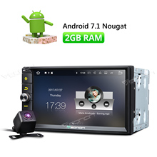 """Camera & Double 2 Din Android 7.1 Car Radio Player 7"""" Universal WIFI GPS Navigation Navi Car Video Stereo audio HD Touch Screen"""