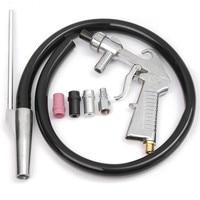7Pcs Set Air Sandblaster Sandblasting Blast Gun Nozzles Connector Tube Derusting Tool Kit Power Tools