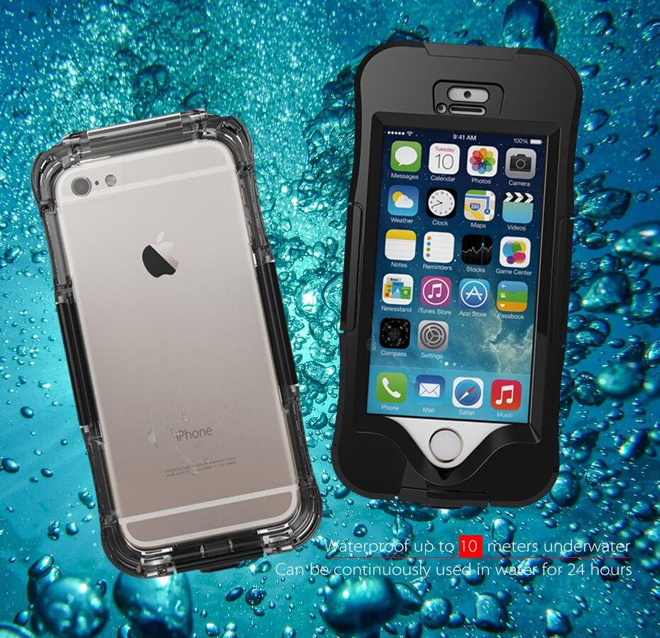 bilder für Wasserdicht Fällen für Apple iPhone SE 5 s 5 6 6 s Plus Funda Capa Coque Abdeckung IP68 10 Mt Wasserdichte Telefon Schmutz Staub Schnee Proof Shell