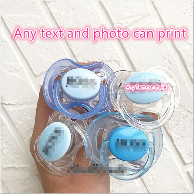 MIYOCAR Any Text Can Make On The Pacifier Baby Dummy Baby Pacifier Personalized Any Text Pacifier With Personalized Label