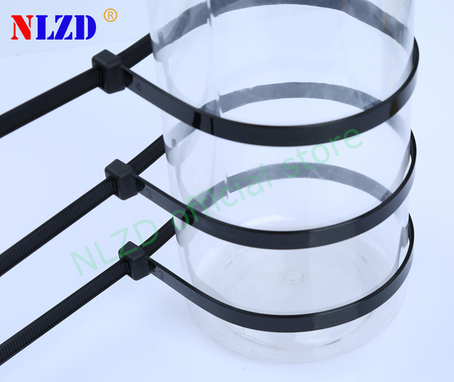 47f02c8ce474 18 inch Self-locking Plastic Nylon Cable Ties 100pcs Width 9mm heavy duty zip  tie 175 lbs 80kgs wire strappings