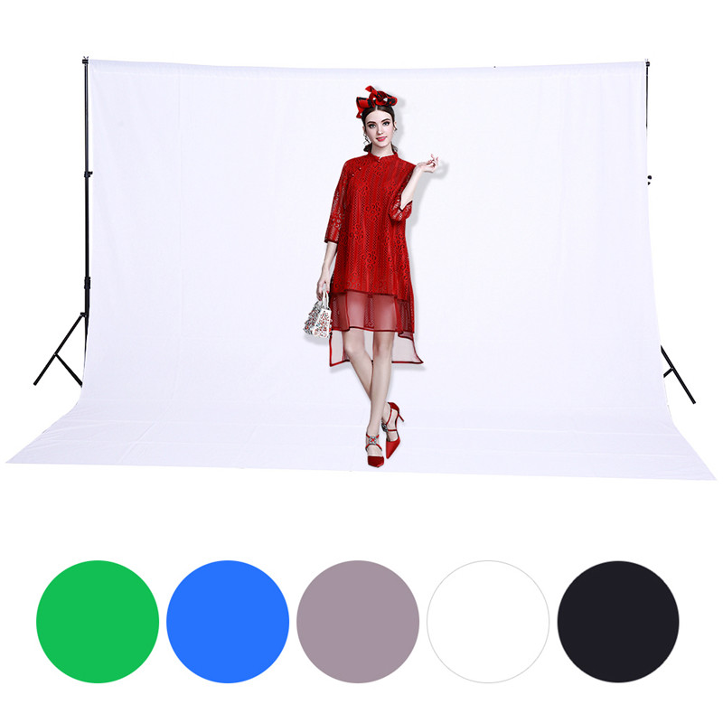 цена на 3X2M/10X6.5ft Photo Studio Background Cotton Muslin Photography Backdrops Chroma key Green Background Drop Free Shipping