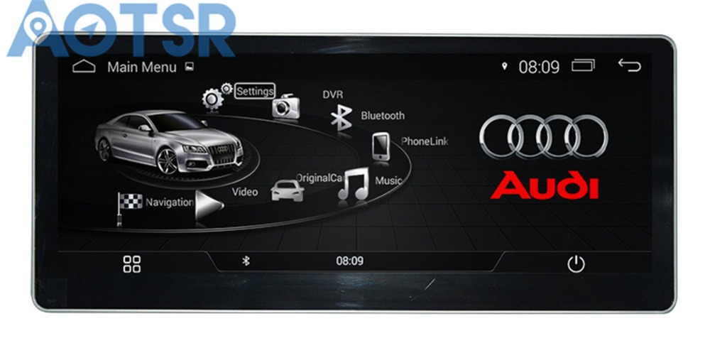 The Pure Android Car No DVD player for AUDI A4 2017 2018 Audio GPS navigation Radio multimedia radio tape recorder pad