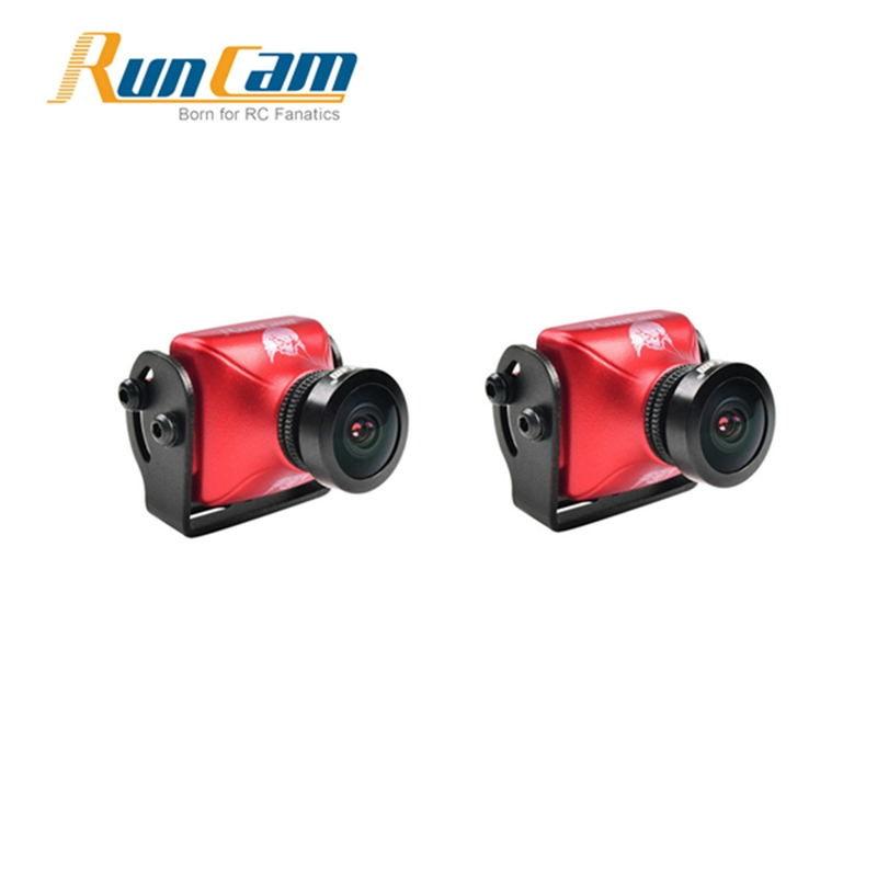 2PCS RunCam Eagle 2 800TVL CMOS 2.5mm 16:9 NTSC / PAL Switchable WDR FPV Camera Low Latency Orange Black Action Cam for RC Drone ...