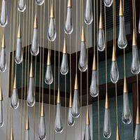 Gold Water drop Crystal Creative Pendant Light European style Luxury LED Lamps Glass Indoor Lighting Restaurant pendant lamp