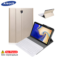 Keyboard Case For Samsung Galaxy Tab S4 10.5 2018 SM T830/T835 With Pencil Holder PU Leather Smart Cover For Samsung Tab S4 10.5