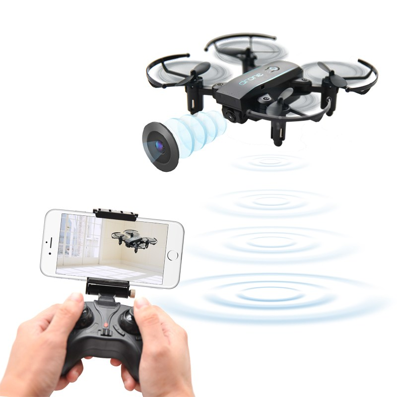 JX 1601HW Mini WIFI FPV With 720P Camera Altitude Mode Foldable Arm RC Drone Quadcopter RTF 0.3MP/2.0MP Cam RC Toy VS JJRC H39WH jjrc h12wh wifi fpv with 2mp camera headless mode air press altitude hold rc quadcopter rtf 2 4ghz