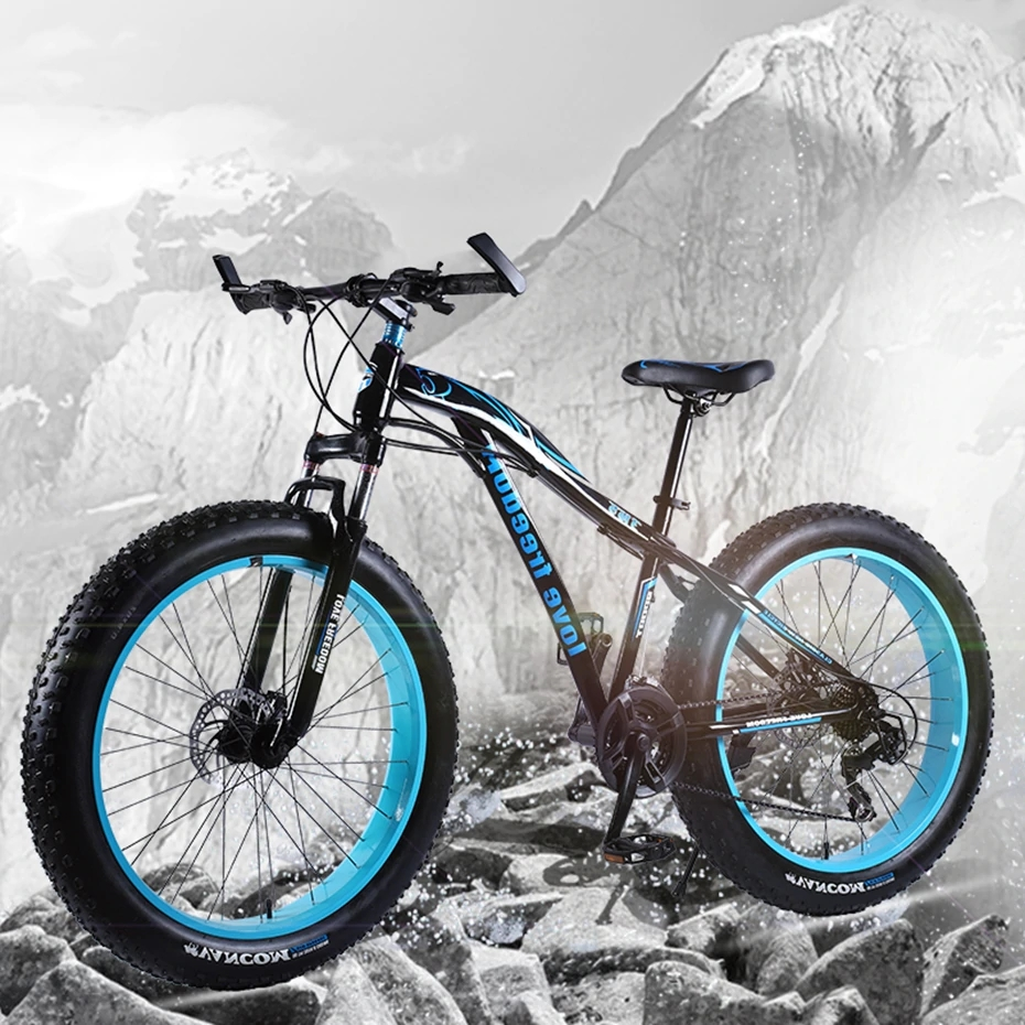UTB8WZYwKGrFXKJk43Ovq6ybnpXaI Love Freedom  Hot Sale 7/21/24/27 Speed Snow Bike 26-inch 4.0 Fat Bicycle Mechanical disc brake Mountain Bike Free Delivery