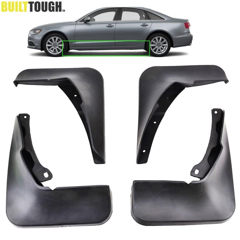 Molded mud flaps accessories fit for audi a6 c7 2011 2015 mud flap splash guards front rear sedan avant quattro 2012 2013 2014
