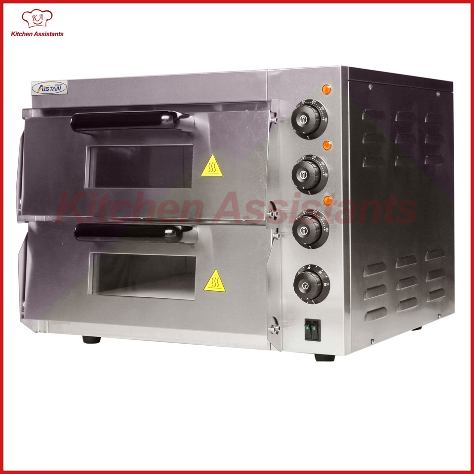 EP2ST Hot sale Electric Pizza Bakery Oven with timer for commercial use for making bread, cake, pizza new arrival double layer large electric oven po2pt commercial oven cake bread pizza oven large electric oven 220v 3000w 0 120min