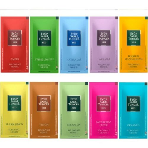 Eyup Sabri Tuncer Cologne Refreshing towel Wet Pipe Mixed Pack of 100 SALE