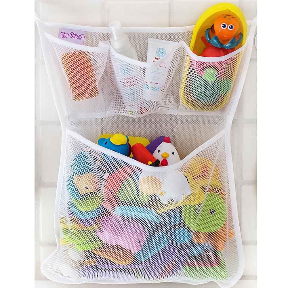 1PCS Bathroom Mesh Net Storage Bag Baby Bath Bathtub Toy Mesh Net Storage Bag Organizer Holder For Home 53*41cm