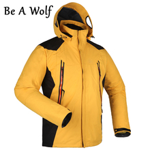 Be A Wolf Hiking Jackets Men Fleece Softshell Jacket Winter Jacket Waterproof Windbreaker Coat Hiking Clothes LG1201 rax winter outdoor waterproof hiking jacket for men fleece windbreaker windproof softshell jacket men s thermal rain jackets men