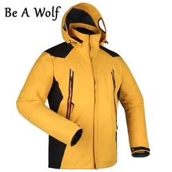 Be A Wolf Hiking Jackets Men Fleece Softshell Jacket Winter Jacket Waterproof Windbreaker Coat Hiking Clothes LG1201