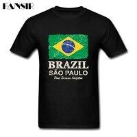 Duży Rozmiar Brazylia Flaga Rocznika Szalony Koszulek Mężczyźni Chłopiec Biała Z Krótkim Rękawem Dla Mężczyzn Koszulka Dla Dorosłych Odzież Marki