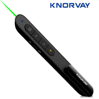 Knorvay N76 Wireless Remote Control Page Turning Green Laser Pointers Presentation Presenter Pen 532nm Lazer