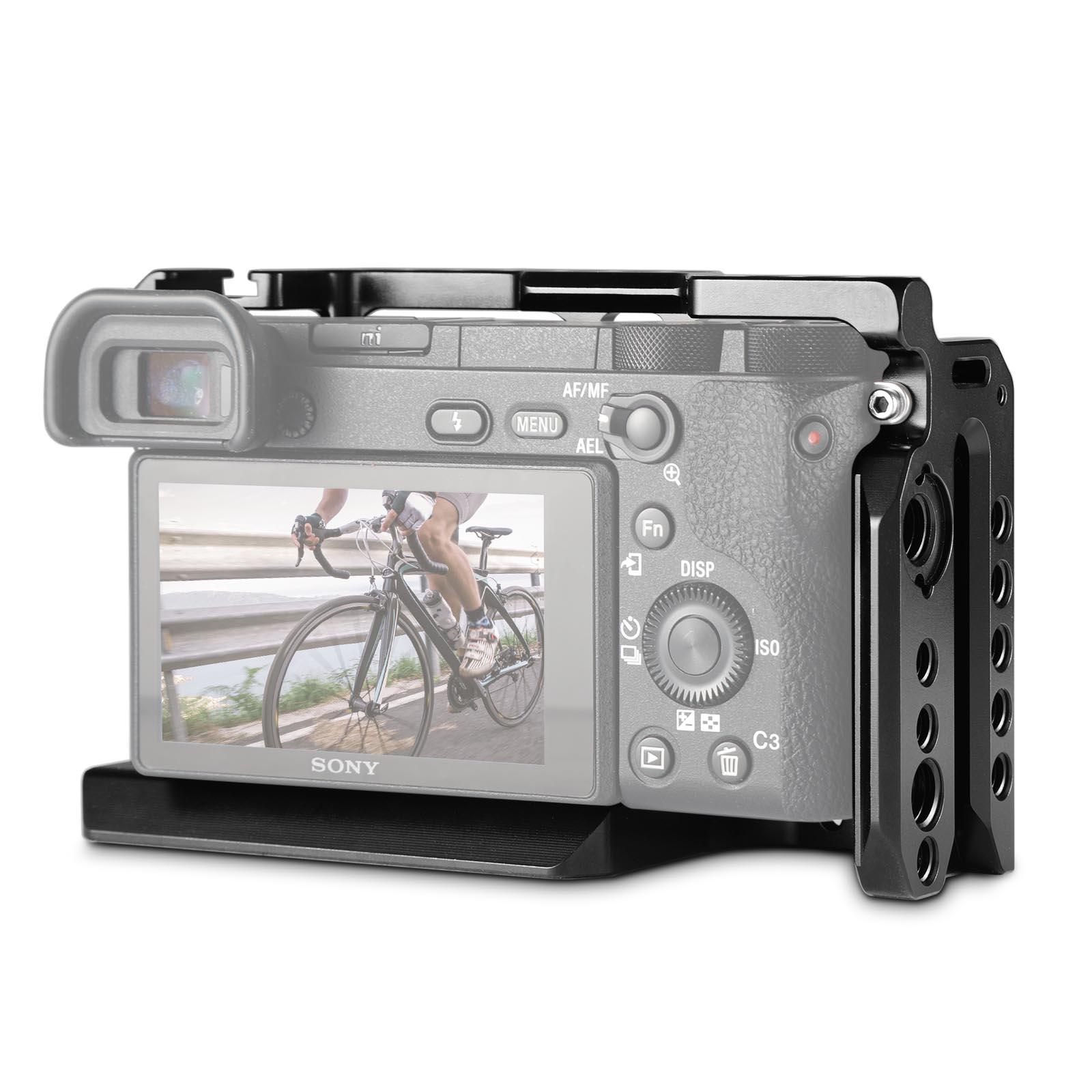SmallRig Dslr Rig Cage pour Sony A6500/A6300 Caméra En Alliage D'aluminium Cage W/Arca Suisse QR plaque (mise à niveau version) -1889 - 3