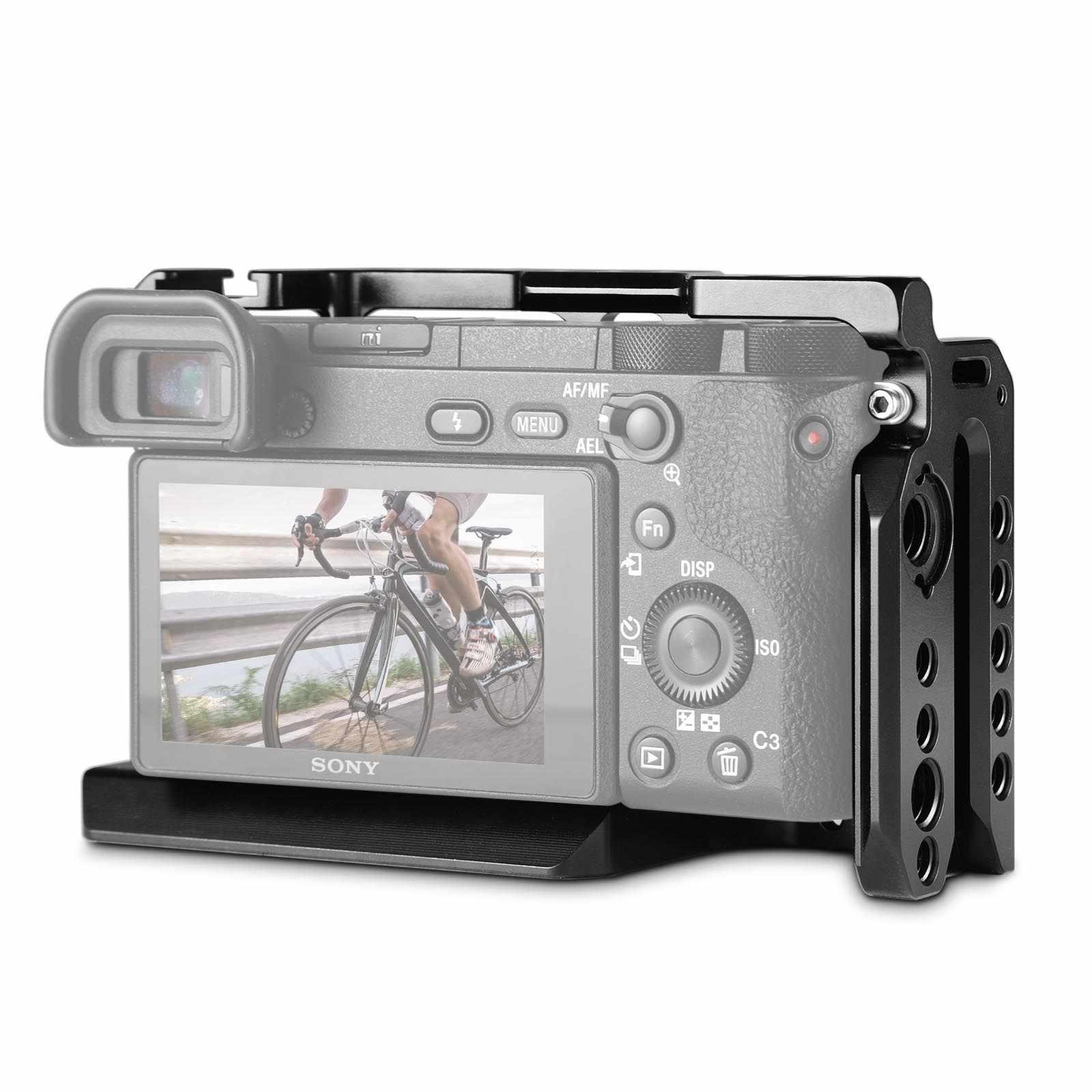 Smallrig Máy Ảnh DSLR Rig Lồng Cho Sony A6500 /A6300 Camera Hợp Kim Nhôm Lồng W/ Arca Thụy Sĩ QR Đĩa (Phiên Bản Nâng Cấp)-1889