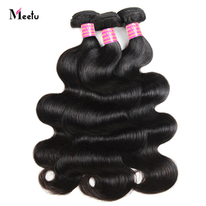 Meetu Body Wave Bundles 100% Human Hair  1/ 3/ 4  Bundles Deal Natural Color 8-28 inch Brazilian Hair Weave Bundles Non Remy